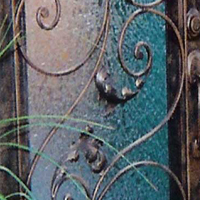 Spanish Wrought Iron Door
