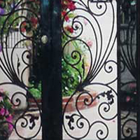 Handmade Iron Door W/Glass