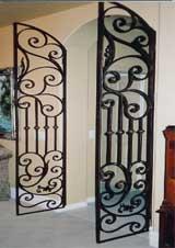 ... Iron Living Room Door