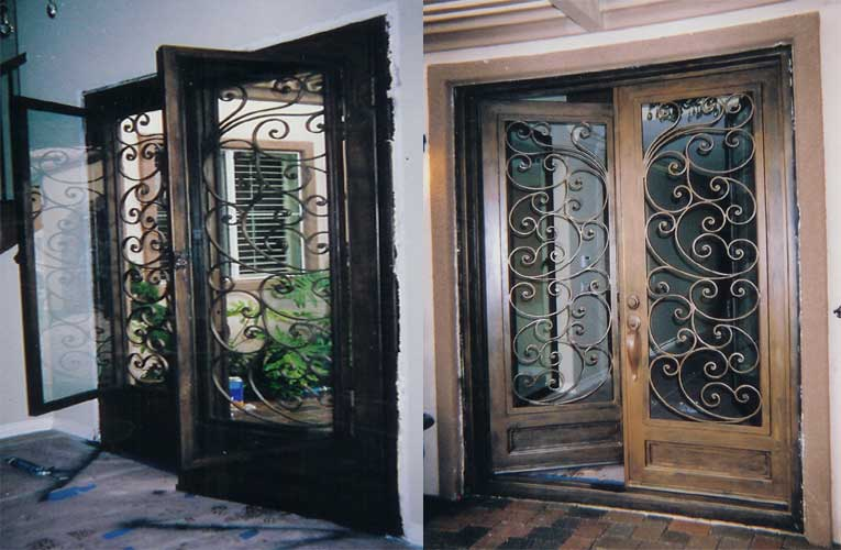 Iron Front Door · Iron Inside Door · Iron Patio Door