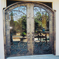 Inside Arched Iron Door