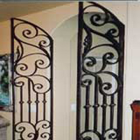 Iron Living Room Door