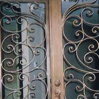 Iron Patio Door
