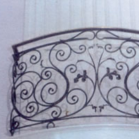 Ornamental Iron Spanish balcony