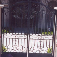 Mission Revival Wrought Iron Gate